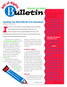 Bill of Rights Bulletin