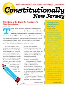Constitutionally New Jersey