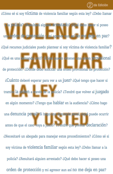 Domestic Violence: The Law and You (Spanish)