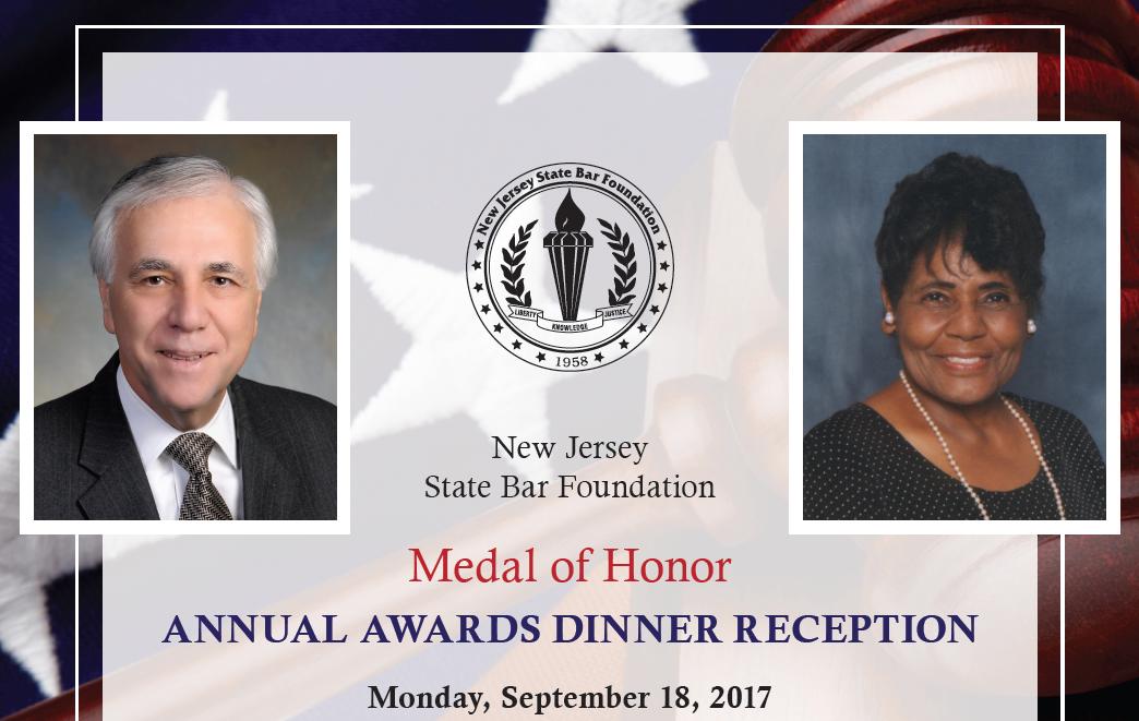 NJSBF to Present Medal of Honor Awards at September 18th Awards Dinner