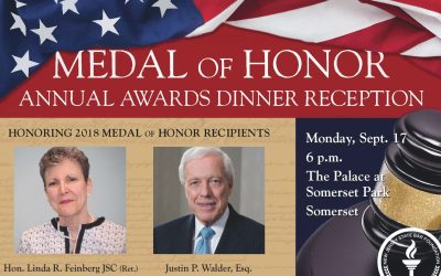 NJ State Bar Foundation to Present Medal of Honor Awards in September