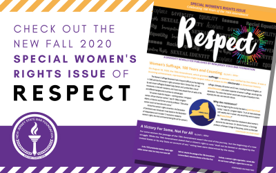 Available Now: Respect's Special Women's Rights Issue Celebrating 100 Years of the 19th Amendment