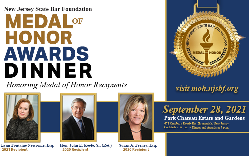 NJSBF to Honor 2020 & 2021 Medal of Honor Recipients at September Awards Dinner